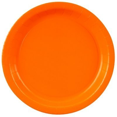 Creative Converting 8.75 Diameter Round Paper Dinner Plates, Sunkissed Orange Color, 24-Count Packages (Pack of 5) by Creative