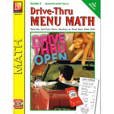 Beginning Math Series - DRIVE THRU MENU MATH BEGINNING MONEY SKILLS