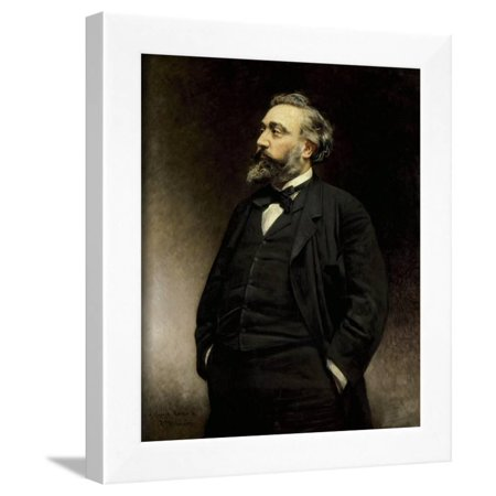 Portrait of Leon Gambetta by Leon Joseph Bonnat Framed Print Wall Art