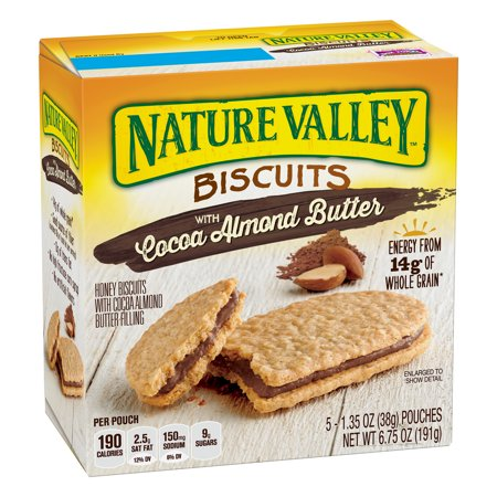 (6 Pack) Nature Valley Almond Butter Nut Filling Breakfast Biscuits 5 Pouches