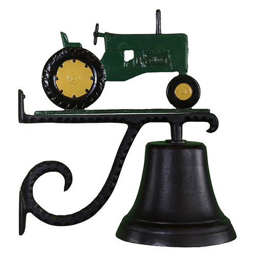 Cast Bell with Green Tractor Ornament