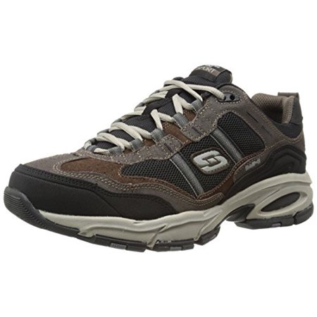 2f204e2cb9d25 Skechers - Skechers Sport Men's Vigor 2.0 Trait Memory Foam Sneaker, Brown/ Black, 8 M - Walmart.com