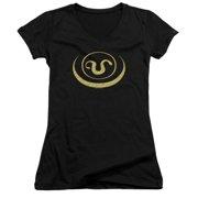 Stargate SG1 Goa'Uld Apothis Symbol Juniors V-Neck Shirt