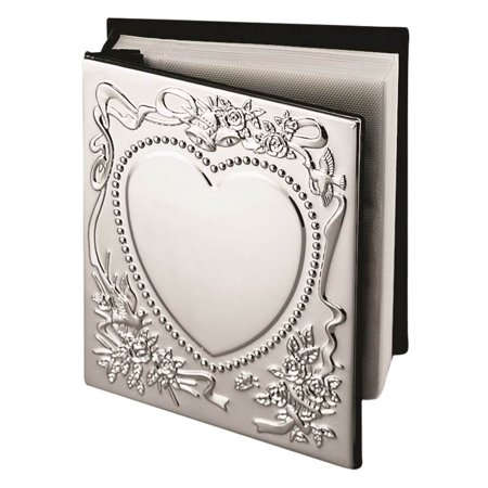 Chrome-plated Sweetheart Photo Album - Engravable Perfect Wedding Gift](Personalized Wedding Albums)