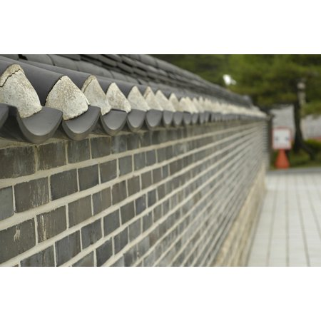 LAMINATED POSTER Wall Brick Eaves Fence Roof Tile Damme Poster Print 24 x 36