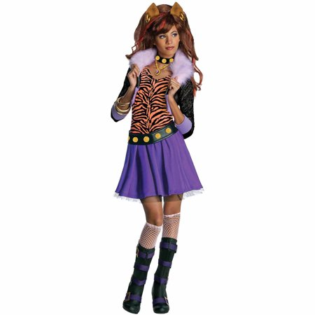 Monster High Clawdeen Wolf Child Halloween Costume (Halloween City Cookie Monster)