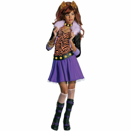 Monster High Clawdeen Wolf Child Halloween Costume (Monster High Womens Costumes)