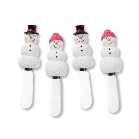 - Mr. Spreader 4-Piece Snowman Resin Cheese Spreader, Assorted