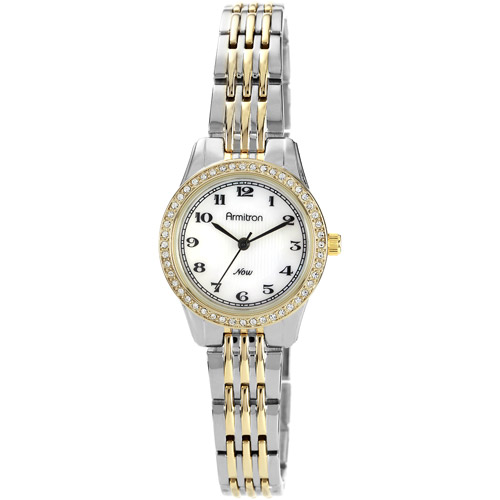 Armitron Women's Crystal Accent Watch, Two-Tone Bracelet