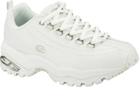 Skechers Premium Smooth Leather Walking Sneaker Shoe - Womens