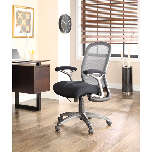 Whalen Graysen Mesh & Twill Managers Chair, Gray