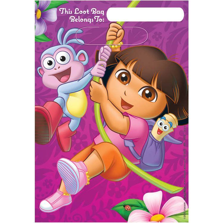Dora's Flower Adventure Loot Bags (Set Of 8) - Party Supplies