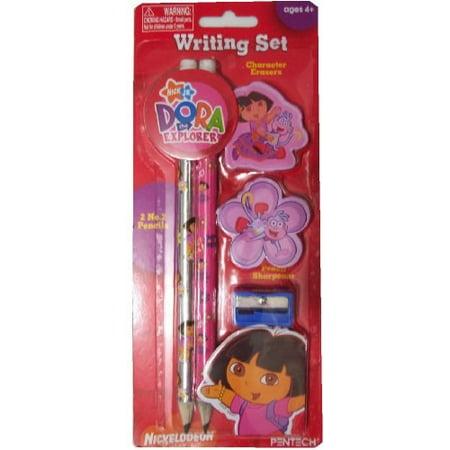 Dora the Explorer Pencil Set Pencils, Erasers, Sharpener by NICK JR](Lazytown Nick Jr)