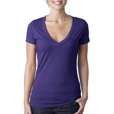 Lilac Ice Apparel - Next Level Ladies' CVC Deep V