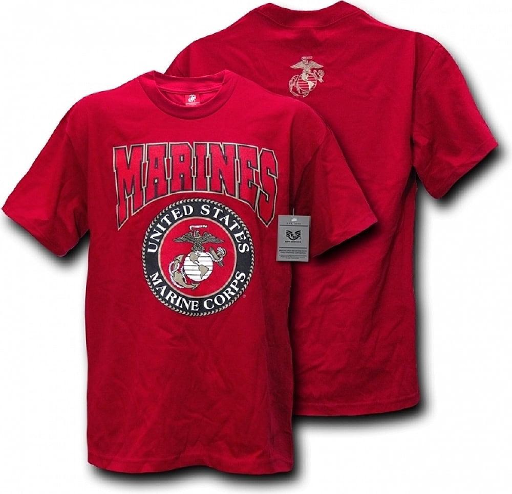Rapid Dominance S25-MAR-CAR-05 Classic Military T-Shirt, Marines, Cardinal, 2X