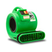 B-Air GP-1 1 HP Air Mover for Water Damage Restoration Carpet Dryer Floor Blower Fan, Green