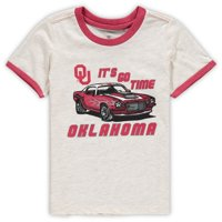 Oklahoma Sooners Colosseum Toddler Indianrockolis Muscle Car Ringer T-Shirt - Oatmeal