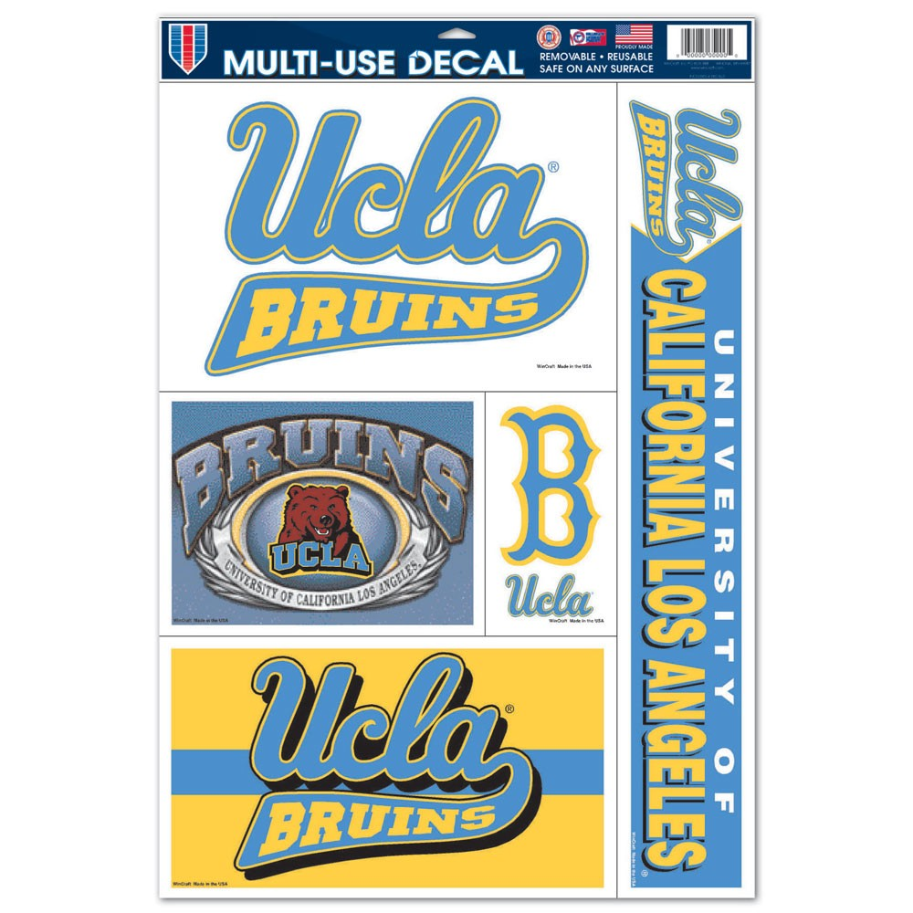 UCLA Bruins Official NCAA 11 inch x 17 inch  Car Window Cling Decal by Wincraft