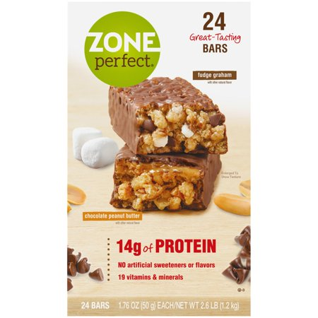 ZonePerfect® Chocolate Peanut Butter/Fudge Graham Nutrition Bars 24-1.76 oz. Bars