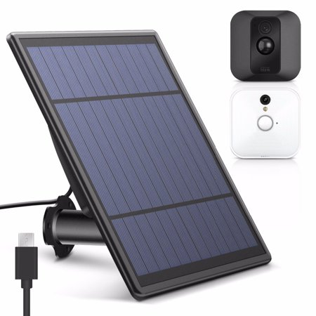 Solar Panel for Blink XT Security Camera, Wall Mount Outdoor Weatherproof Solar Energy Charging Panel for Blink XT Home System