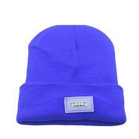 52b472e8f6b Unisex 5 LED Knitted Flashlight Beanie Hat cap for Hunting