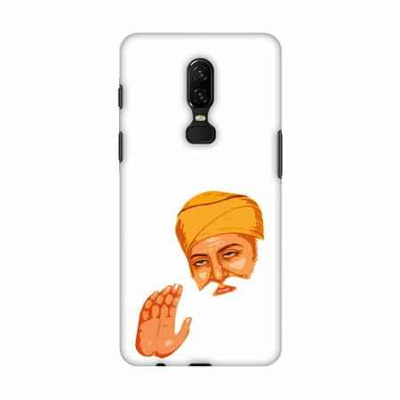 OnePlus 6 Case - Guru Nanak Dev Ji, Hard Plastic Back Cover, Slim Profile Cute Printed Designer Snap on Case with Screen Cleaning