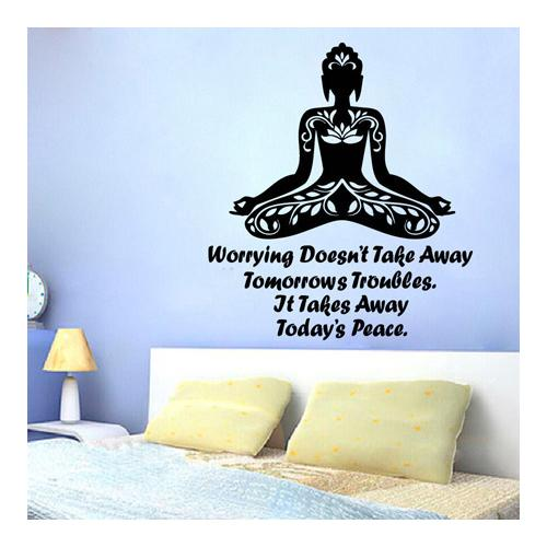 Stickalz llc Yoga Inspirational Quote Sticker Vinyl Wall Art