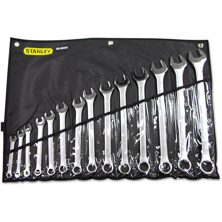 Stanley Tools Combination Wrench, 14-Piece SAE Set, Tool Steel
