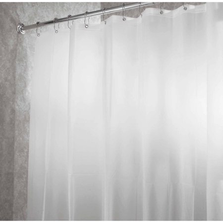 InterDesign PEVA 4.8 Shower Curtain Liner - Frost - Walmart.com