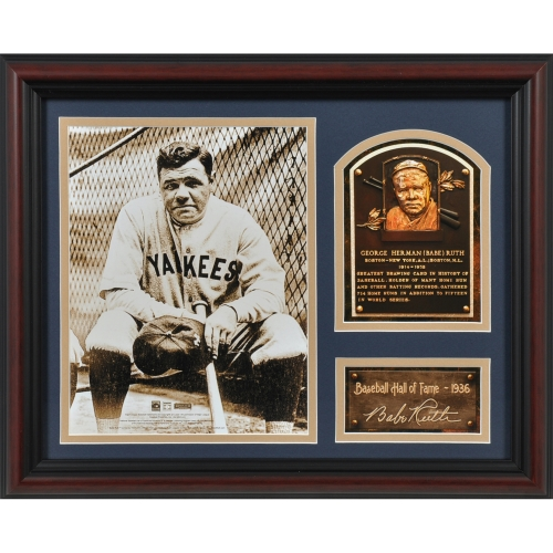 Babe Ruth New York Yankees Fanatics Authentic Framed Hall of Fame Milestones & Memories Photograph with Facsimile Signature - No Size