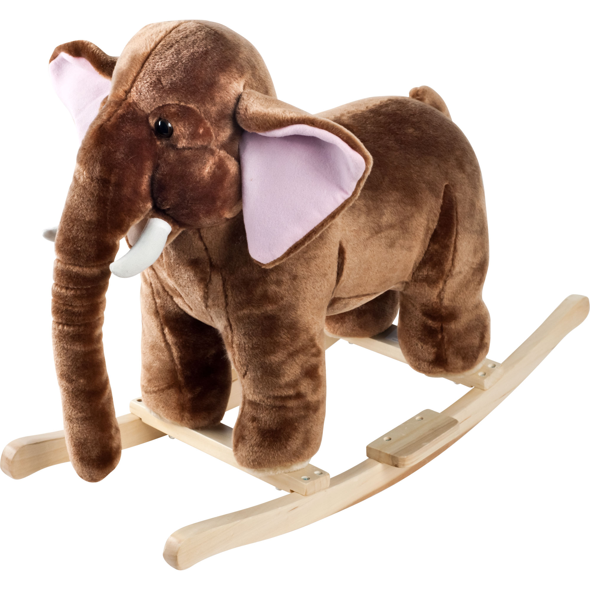 Elephant Plush Rocking Horse Animal Mo Mammoth with Sounds Ride On Toy by Happy Trails