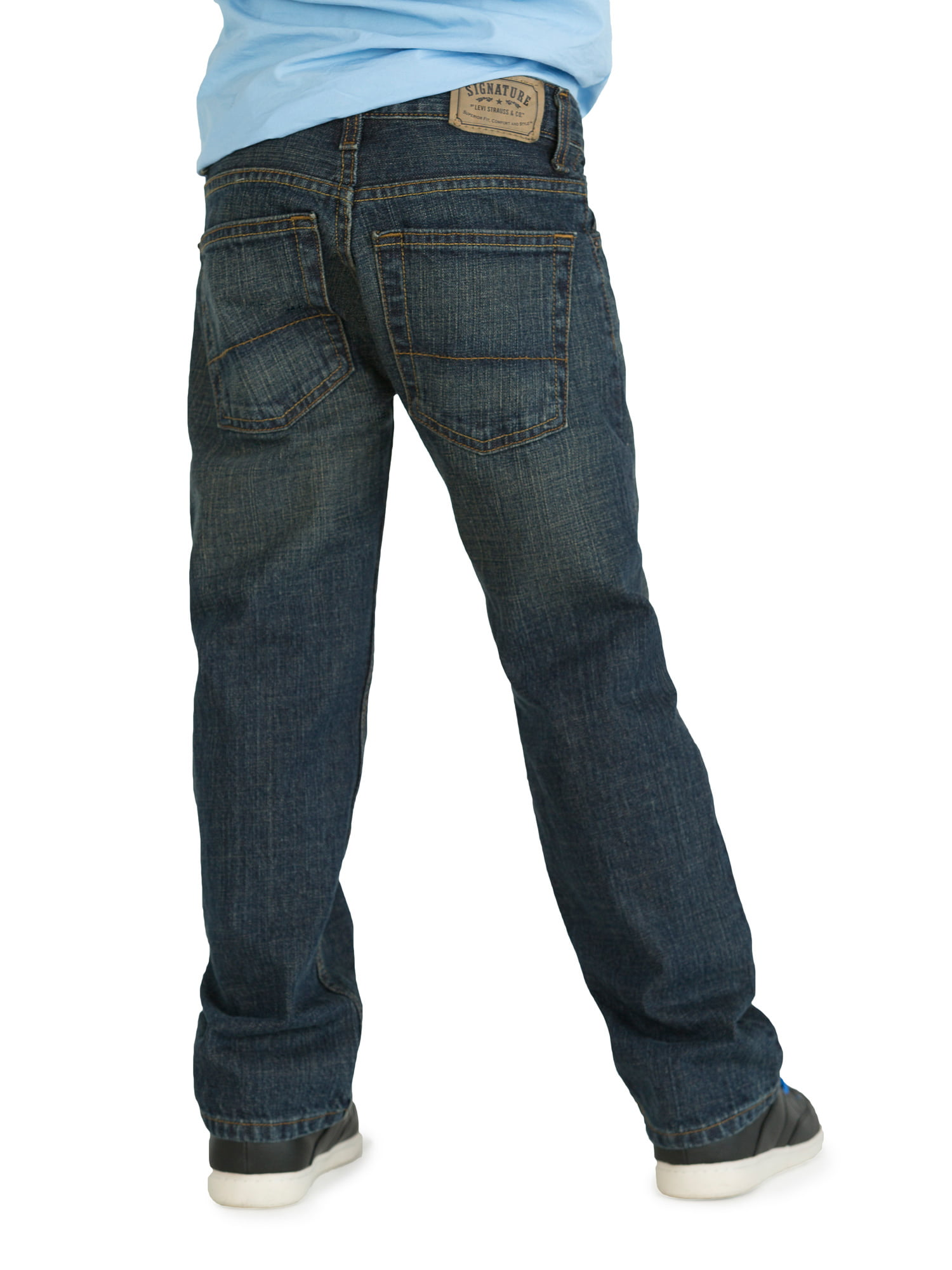 54a800f6770c9 Signature by Levi Strauss   Co. Boys  Straight Fit Jeans - Walmart.com