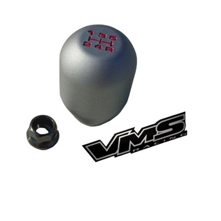 - 10x1.25mm Thread 5 speed Type-R Shift Knob in Gunmetal Grey Gray Matte Silver Billet Aluminum for Mitsubishi Ralliart