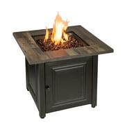 Endless Summer Burlington LP Gas Outdoor Fire Pit Table - GAD15285SP - Faux Wood Mantel - Oil Rubbed Bronze Finish Steel Base - 50,000 BTUs