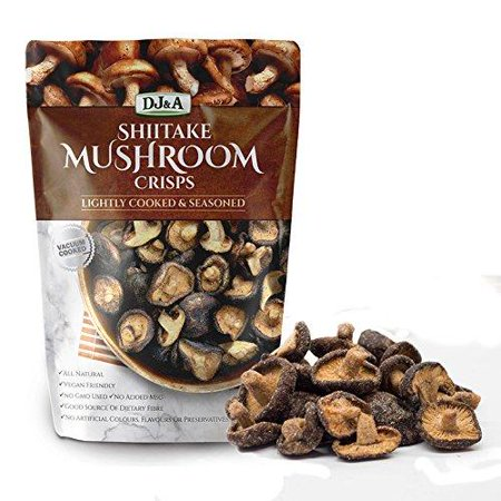 Shiitake Mushroom Crisps - Lightly Cooked and Seasoned 5.29 Ounce ()