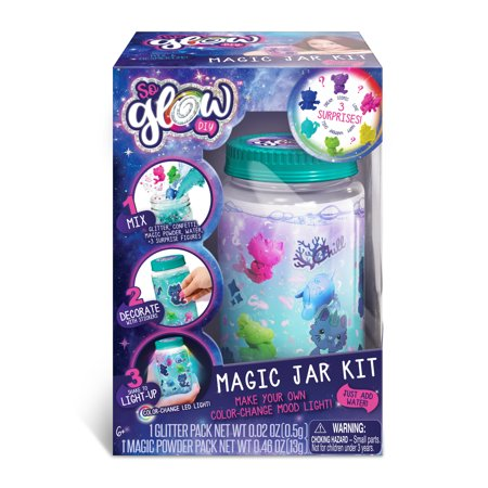 SoGlow Magic Jar Kit: Large Jar - Make Your Own Color-Change Mood (Own Monster Kit)