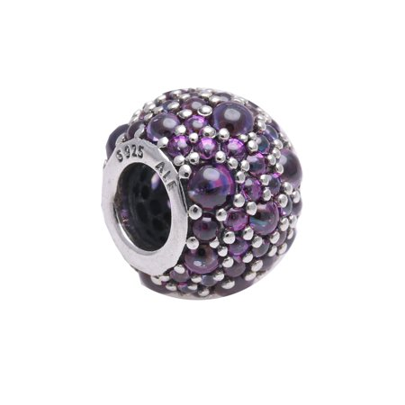 Authentic Purple Shimmering Droplets Charm 791755CFP