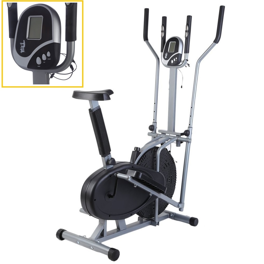 Home Elliptical Bike 2 In 1 Cross Workout Trainer Exercise Fitness Machine Upgraded Standing Riding Bicycles