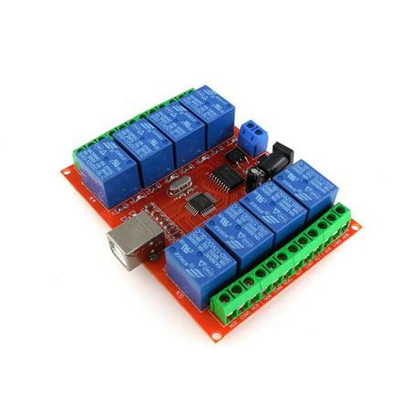 HW-554 A198 DC 12V 8 Channel Relay Module Computer USB Control