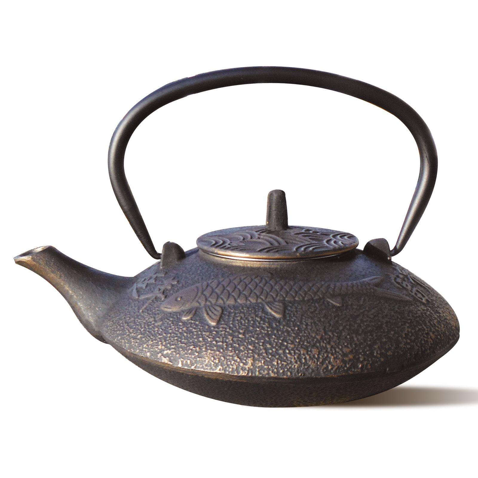 Old Dutch Koi Cast Iron Teapot