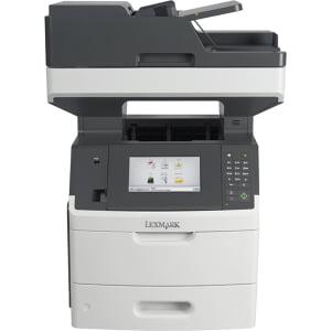 """Lexmark MX710DE Laser Multifunction Printer - Monochrome - Plain Paper Print - Desktop - Copier/Fax/Printer/Scanner - 60 ppm Mono Print - 1200 x 1200 dpi Print - 60 cpm Mono Copy - 7"""" LCD Tou"""