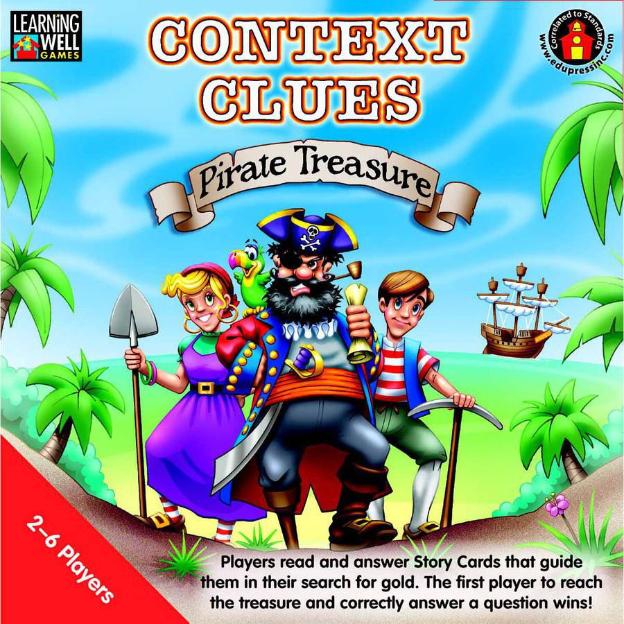 Learning Well Context Clues Pirate Treasure Game, Multiple Levels ...