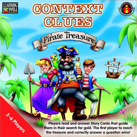 Learning Well Context Clues Pirate Treasure Game, Multiple Levels](Pirate Treasure Map Game)