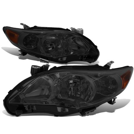 1997 Toyota Corolla Sedan - For 2011 to 2013 toyota Corolla Sedan Pair Smoked Housing Amber Corner Headlight Headlamp 12 Left+Right