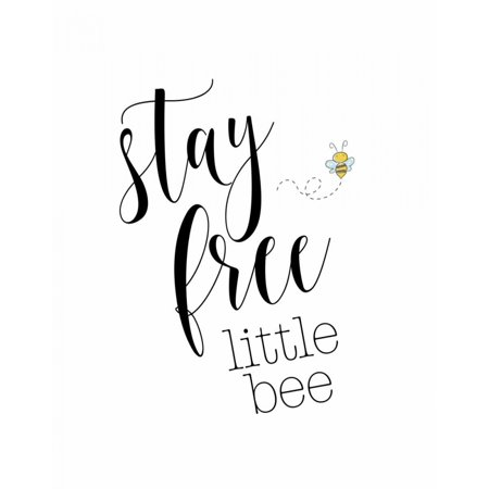 Stay Free Little Bee Stretched Canvas - Tara Moss (22 x 28) (Little Bees Canvas)