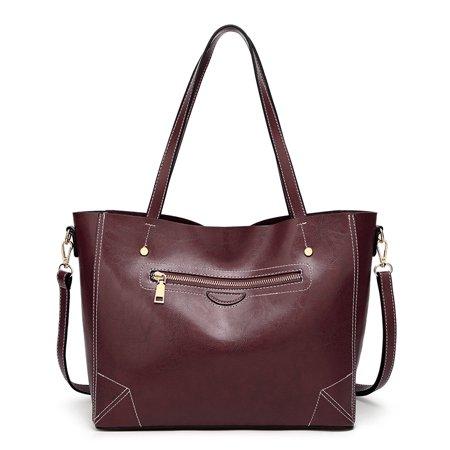 c755cbb42b 2018 Women Bag Famous Brand Luxury Handbag Women Bags Designer Shoulder Bag  Soft Leather High Capacity Vintage Handbag