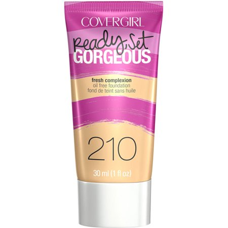 COVERGIRL Ready, Set Gorgeous Liquid Makeup Foundation, Medium Beige, 1 Fl Oz