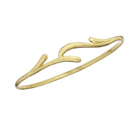 X & O Gold Tone Vine Bangle Gold Vine Pattern Bracelet