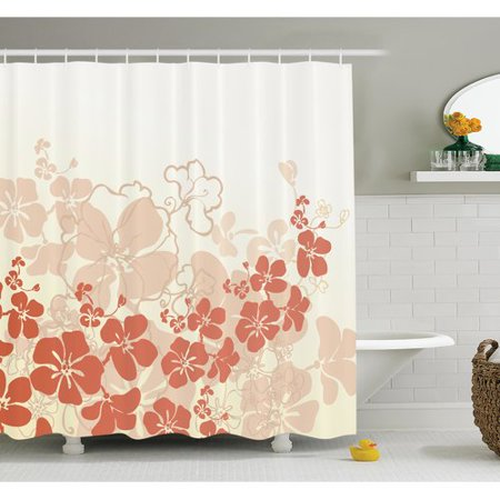 Ambesonne Floral Hawaii Tropical Shower Curtain Set (Tropical Floral)