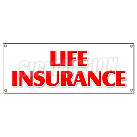 Image of LIFE INSURANCE BANNER SIGN financial income quotes terms servicews